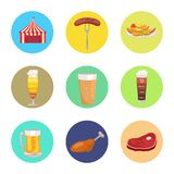 Nine Images of Octoberfest Vector Illustration Stock Image