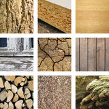 Nine images of wood Stock Images