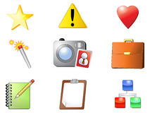 Nine Internet Icons Royalty Free Stock Photo
