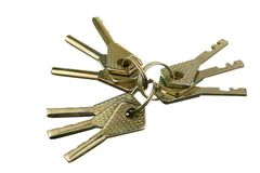 Nine keys Royalty Free Stock Image