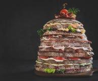 Nine layers sandwich Royalty Free Stock Photo
