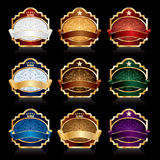Nine luxury labels Royalty Free Stock Photo