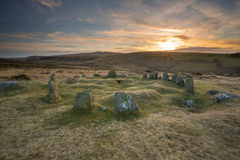 Nine maidens. Nine maidens dartmoor national park devon uk Royalty Free Stock Images