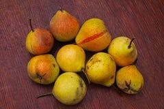 Nine mature pears royalty free stock photo