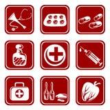 Nine medical symbols vector illustration