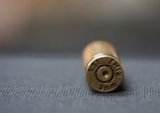 Nine Millimetre (9mm) bullet shell casing cartridge. Nine Millimetre (9mm) bullet shell casing stock images
