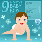 Nine months baby Royalty Free Stock Photo