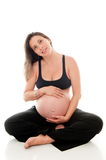 Nine Months Pregnancy Stock Photo