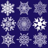 Nine More Fabulous Original Snowflakes Stock Photography