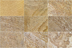 Nine Natural Limestone. Background and textures Stock Image