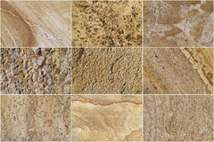 Nine Natural Limestone Background Stock Photography
