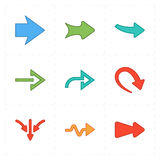 Nine new simple arrows. This is a vector illustration of nine new simple arrows vector illustration