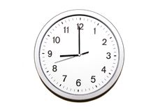 Nine o'clock Royalty Free Stock Photo