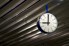 Nine O'Clock. A modernistic view of a clock in Frankfurt Airport Royalty Free Stock Photography