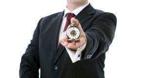 Nine o'clock businessman Royalty Free Stock Images