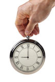 Nine o'clock on retro watch. Stock Photos