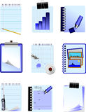 Nine Office and Business icons Stock Photography