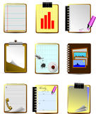 Nine Office and Business icons Royalty Free Stock Photography