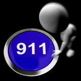 Nine One One Pressed Shows 911 Emergency Or Crisis. Nine One One Pressed Showing 911 Emergency Or Crisis stock illustration