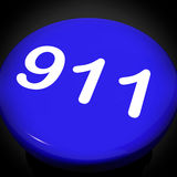 Nine One Switch Shows Call Emergency Help Rescue 911 Royalty Free Stock Images