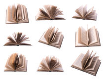 Nine open book Royalty Free Stock Photo