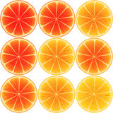 Nine oranges ripples Royalty Free Stock Photography