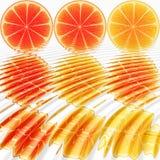 Nine oranges ripples Royalty Free Stock Photography
