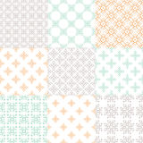 Nine Patterns Stock Images