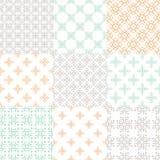 Nine Patterns Stock Images
