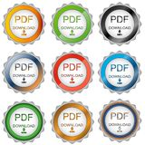 Nine pdf download icons Stock Photo