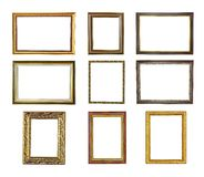 Nine picture frames Royalty Free Stock Photography