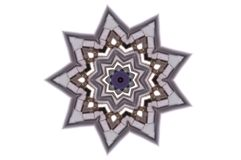 A nine pointed grey star illustration Royalty Free Stock Photo