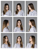 Nine portraits Royalty Free Stock Photos