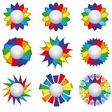 Nine rainbow icons Stock Image