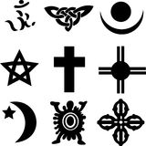 Nine Religious Symbols Stock Images
