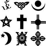 Nine Religious Symbols Stock Images