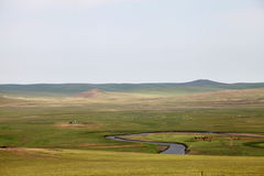 Nine on the river in Inner Mongolia Hulun Buir Prairie Royalty Free Stock Photography