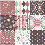 Nine seamless pattern Royalty Free Stock Image