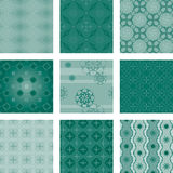 Nine seamless patterns Royalty Free Stock Photography