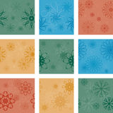 Nine seamless patterns Stock Photo