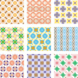 Nine seamless patterns Stock Photography