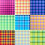 Nine seamless patterns Royalty Free Stock Photos