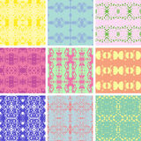 Nine seamless patterns Stock Images