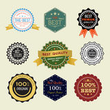 Nine set of simple badge Stock Image