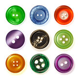 Nine sewing buttons. Royalty Free Stock Photography