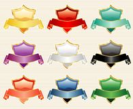 Nine shields stock illustration