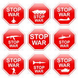 Nine signs stop war. Stock Photo