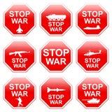 Nine signs stop war. Stock Photo