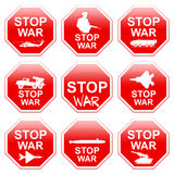 Nine signs stop war. Royalty Free Stock Images