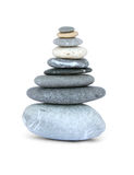 Nine smooth gray stones Royalty Free Stock Photo